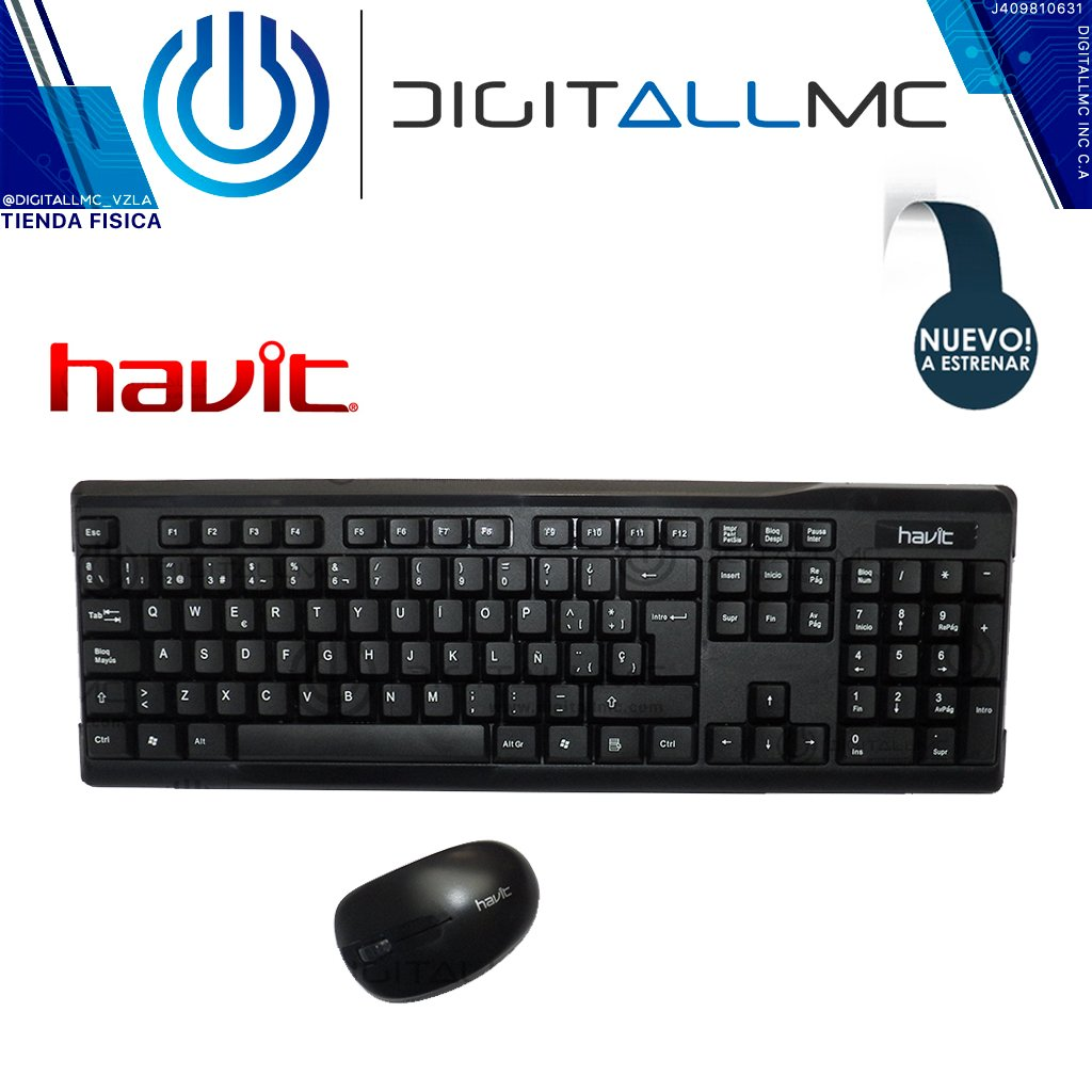 Combo Teclado Y Mouse Inalambrico Havit Hv-kb593gsm